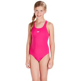 speedo Essential Endurance+ Medalist Swimsuit Girls Electric Pink